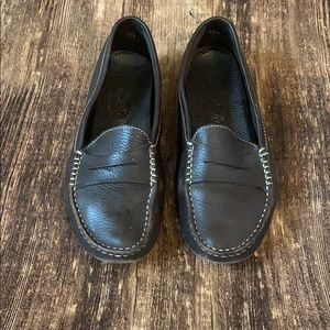 Tods chocolate brown leather loafers size 38 1/2